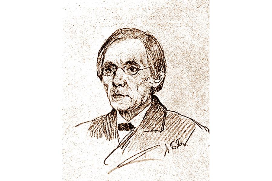 С.А. Рачинский. Рисунок Н.П. Богданова-Бельского