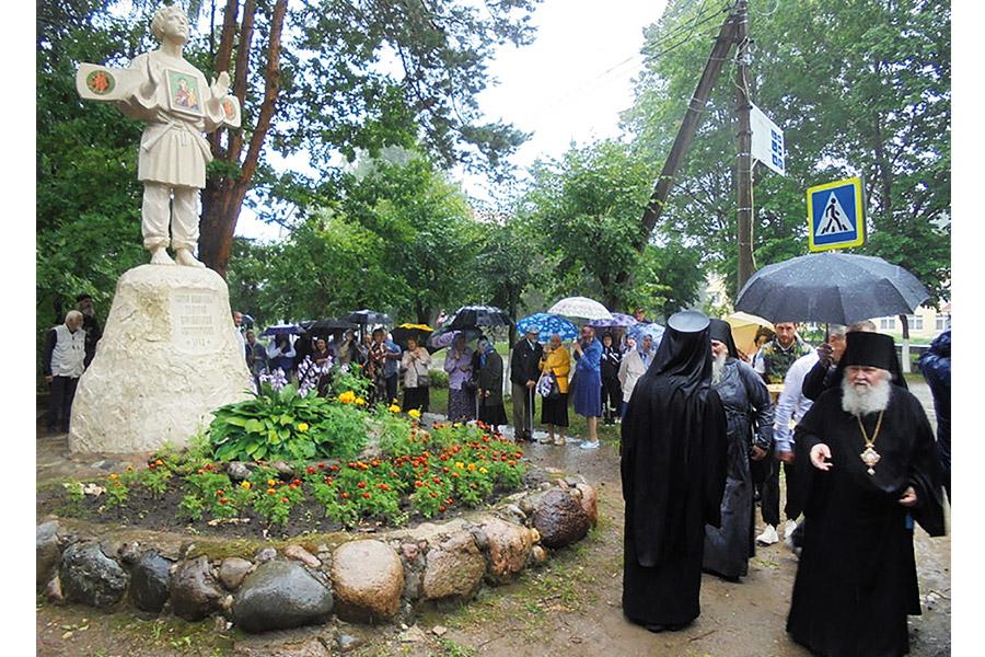 Освящение памятника блаженному Тимофею, святогорскому чудотворцу. 30 июля 2020 г.