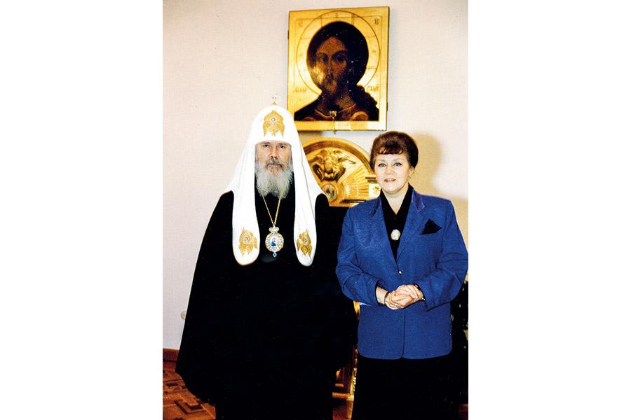 Со Святейшим Патриархом Московским и всея Руси Алексием II. Москва, 1994 г.