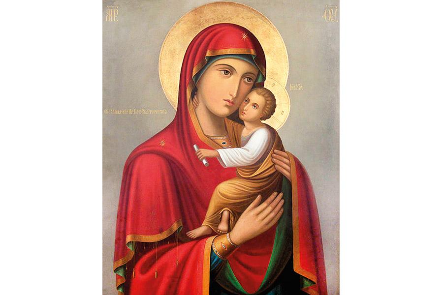 Святогорская икона Божией Матери Умиление