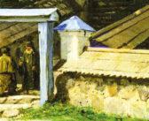 Памятник святому блаженному Тимофею в Святых Горах