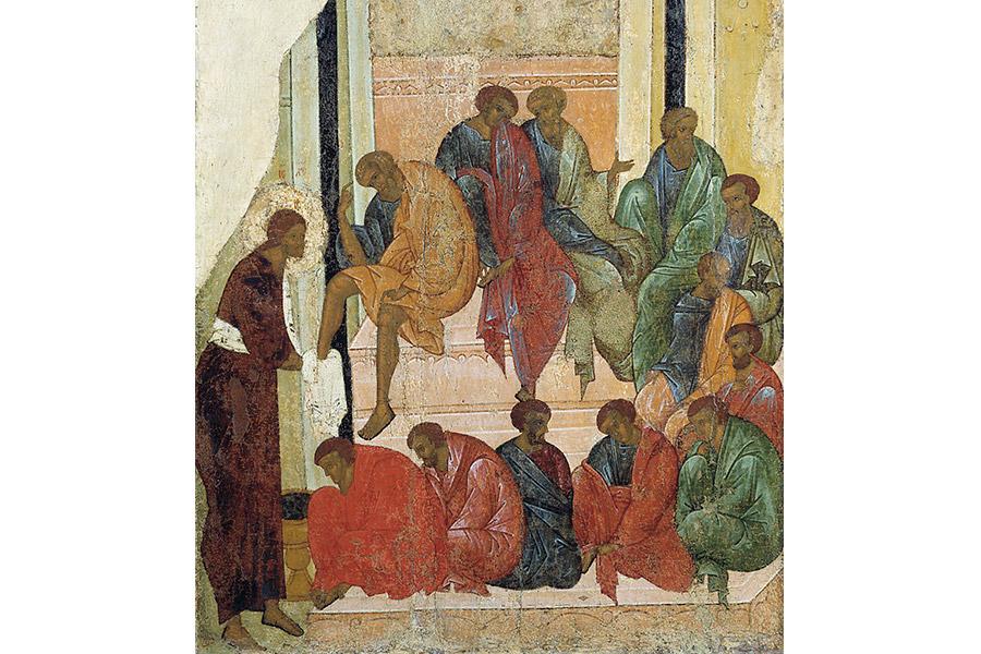 Омовение ног. Фрагмент иконы 1497 г.
