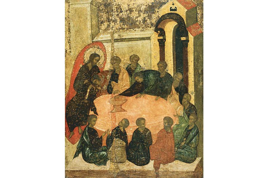 Тайная вечеря. Из иконостаса Троицкого собора Троице-Сергиевой Лавры