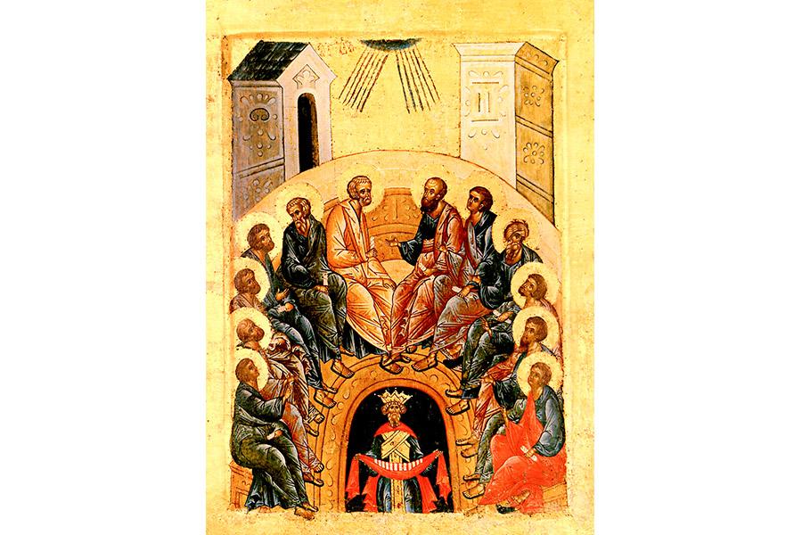 Сошествие Святого Духа. Икона Кирилло-Белозерского монастыря