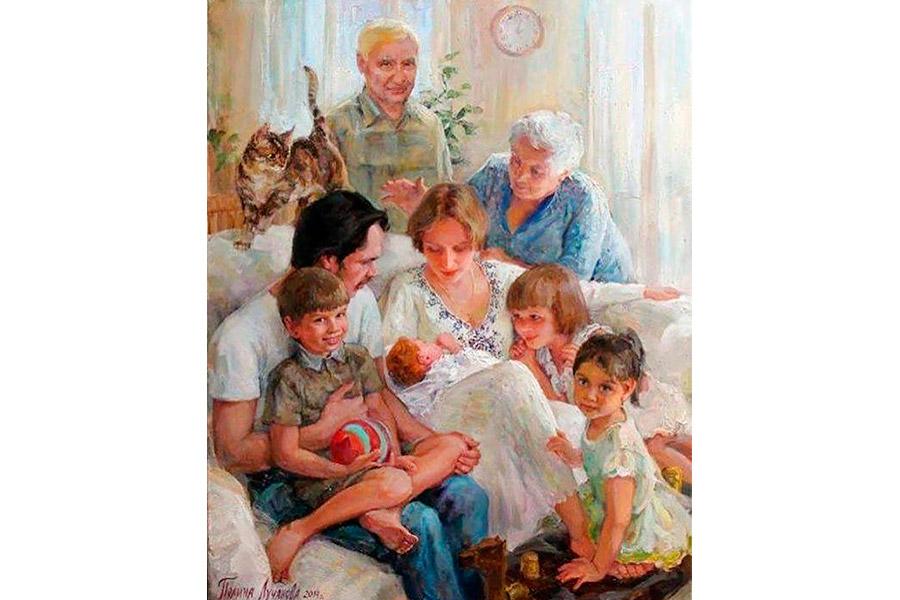 Полина Лучанова. Семейный портрет. Знакомство. 2014 г.