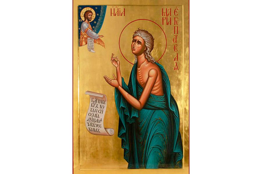 Преподобная Мария Египетская. Икона