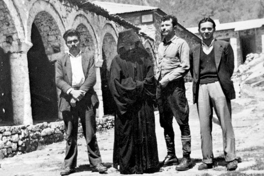 Монах Паисий в монастыре Стомион