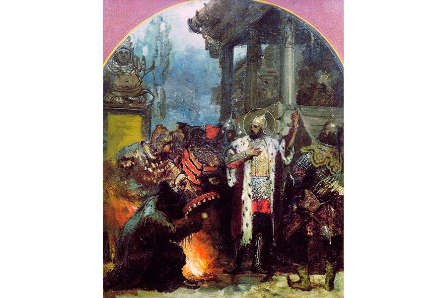 Александр Невский в Орде. С эскиза Генриха Семирадского
