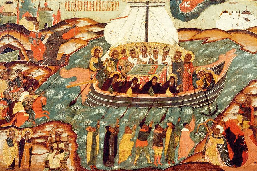 Корабль веры. Икона, кон. XVII – нач. XVIII в.