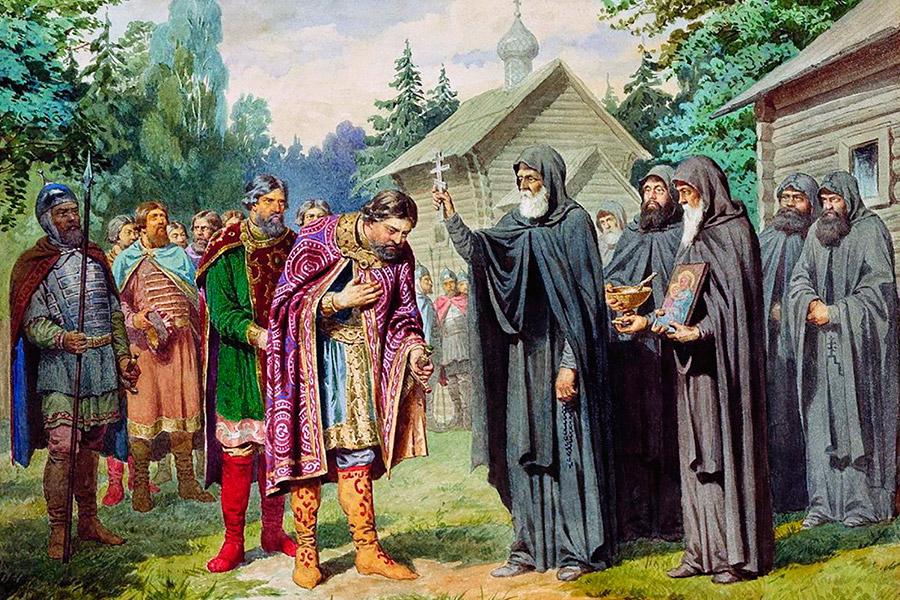 Благословение Преподобного Сергия Радонежского Дмитрия Донского
