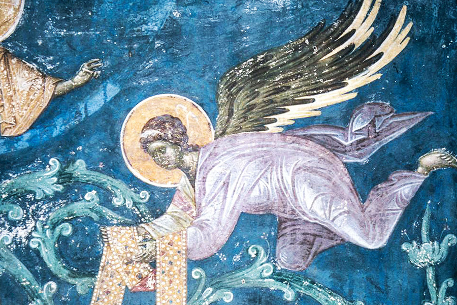 Ангел. Фреска, Сербия