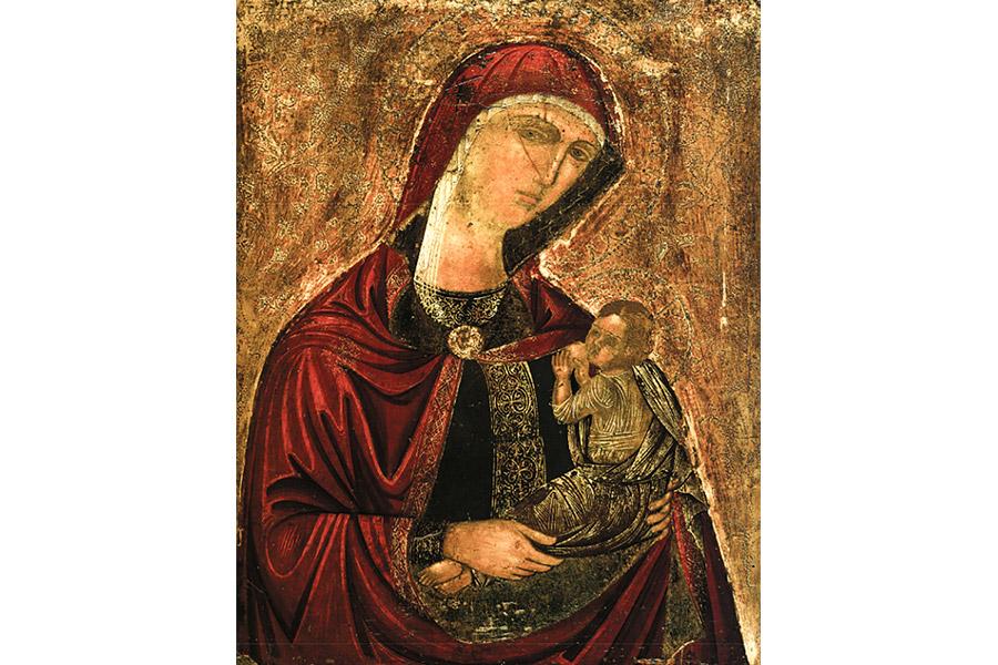 Икона Богородицы Млекопитательница, Греция, XVI в.