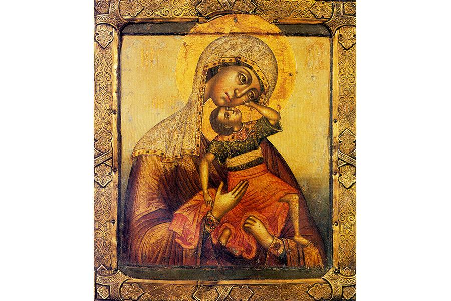 Богоматерь Взыграние Младенца. Икона. Конец XVII в.