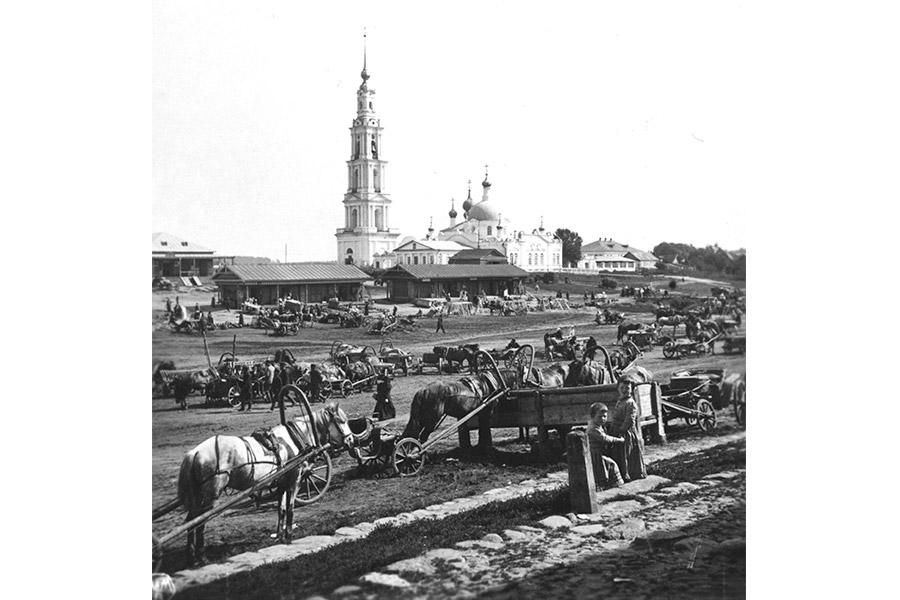 Торговая площадь Калязина, нач. XX в.