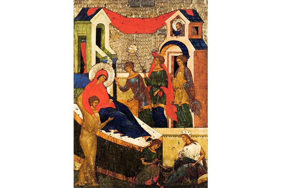 Рождество Пресвятой Богородицы. Икона из Кирилло-Белозерского монастыря. Ок. 1497 г.
