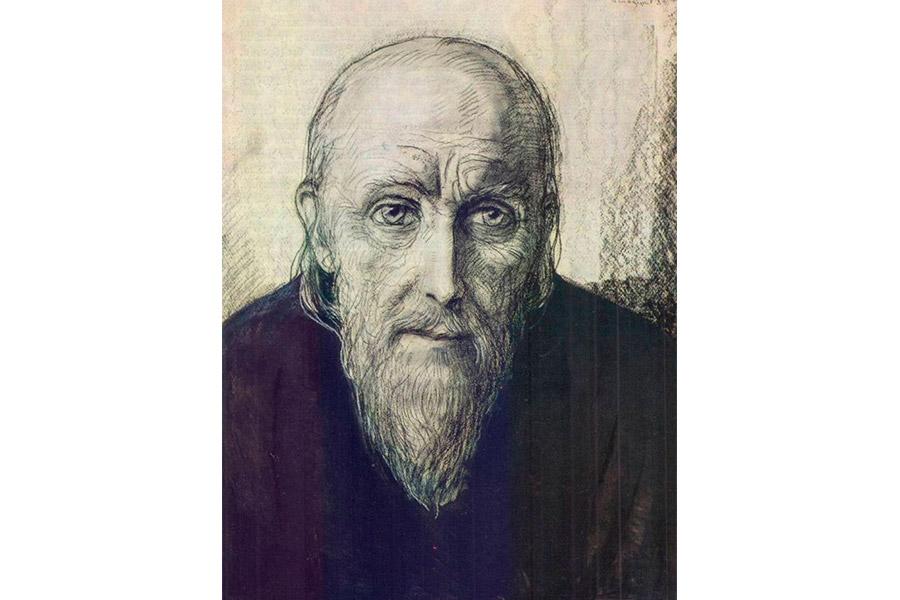 Старец Зосима. Иллюстрация Ильи Глазунова